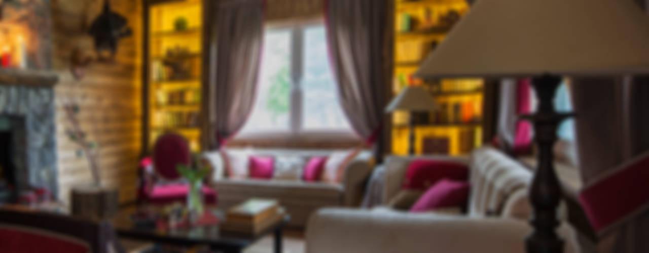 Загородный дом в скандинавском стиле Гостиная в рустикальном стиле от COUTURE INTERIORS Рустикальный