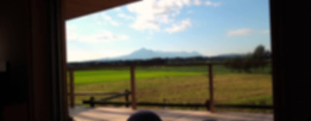 高木町の家~霧島連山を望む家~ モダンデザインの テラス の ㈱ライフ建築設計事務所 モダン