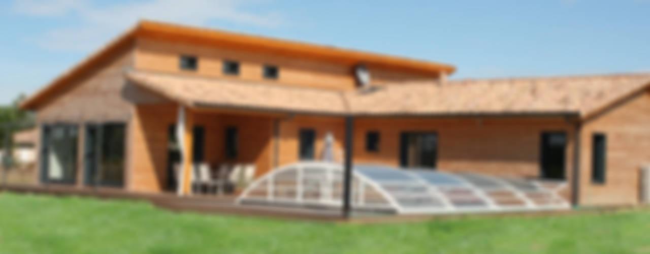 Maison individuelle ossature bois i Petra France Maisons modernes