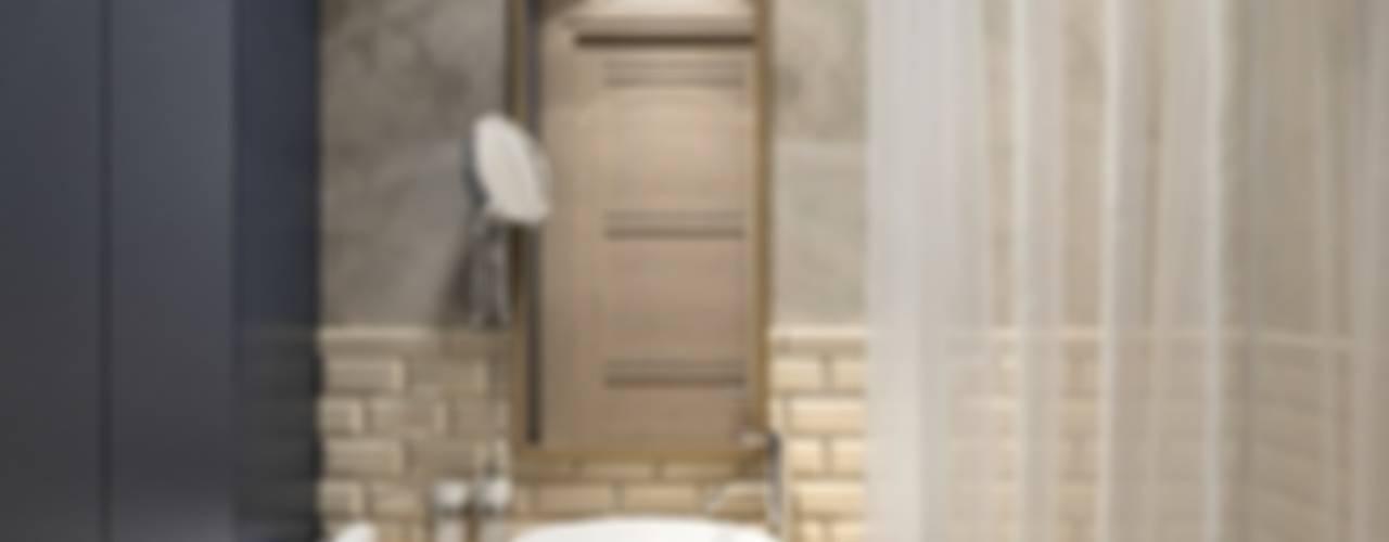 Новая жизнь для однокомнатной хрущевки Ванная комната в скандинавском стиле от PlatFORM Скандинавский