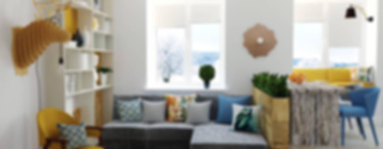 2-х комнатная квартира, г. Москва Гостиные в эклектичном стиле от Olesya Parkhomenko Эклектичный