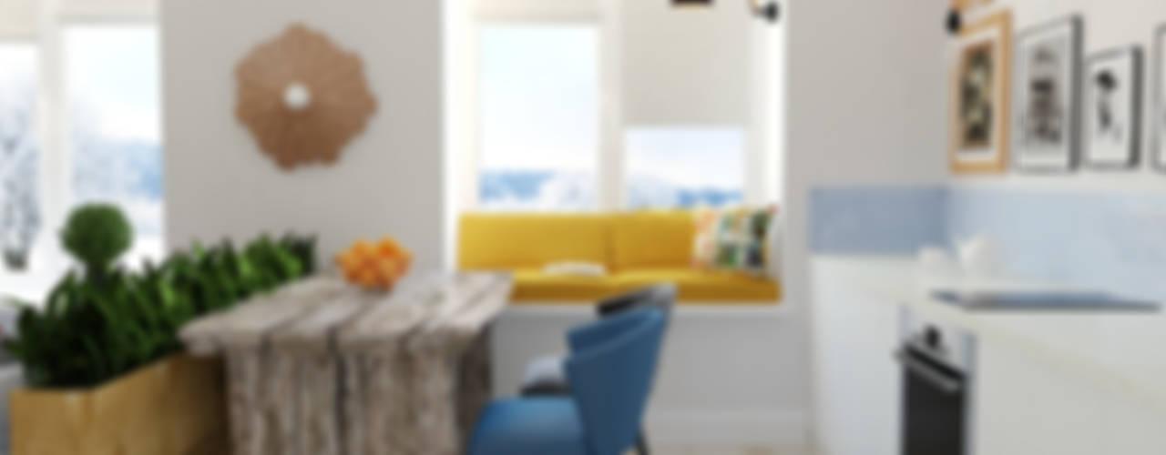 2-х комнатная квартира, г. Москва Кухни в эклектичном стиле от Olesya Parkhomenko Эклектичный