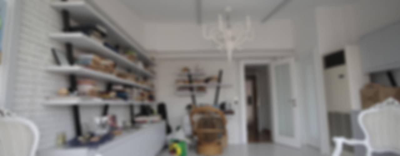 AHMET ASLI İLHAN EVİ Rustik Çalışma Odası DerganÇARPAR Mimarlık Rustik