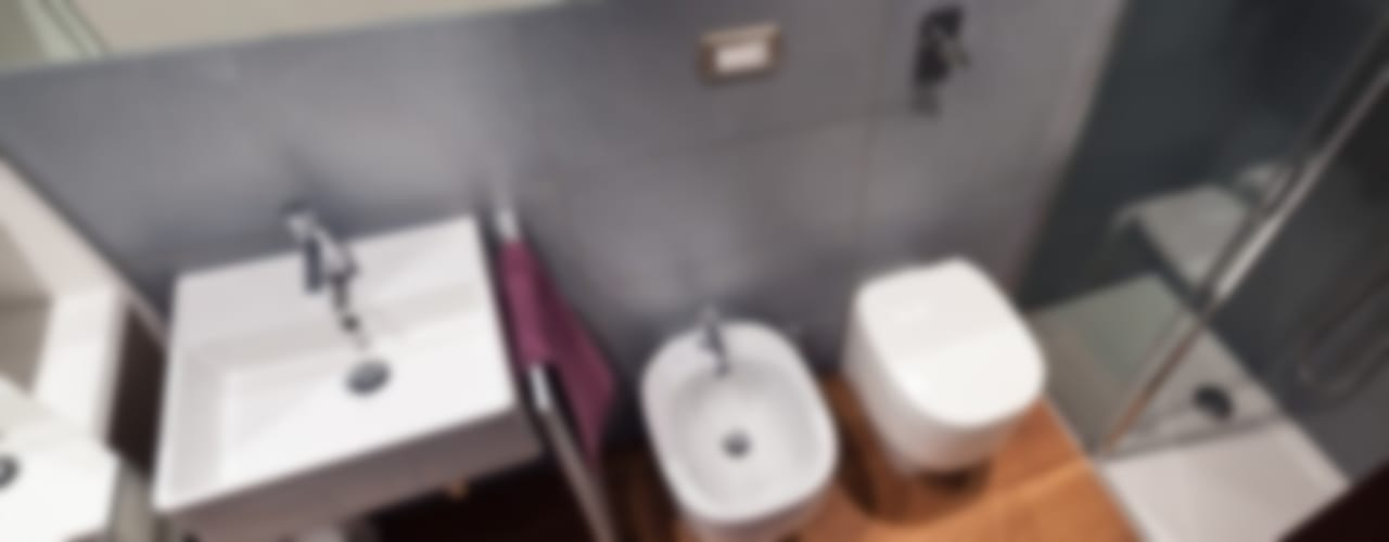 Modern bathroom by gk architetti (Carlo Andrea Gorelli+Keiko Kondo) Modern
