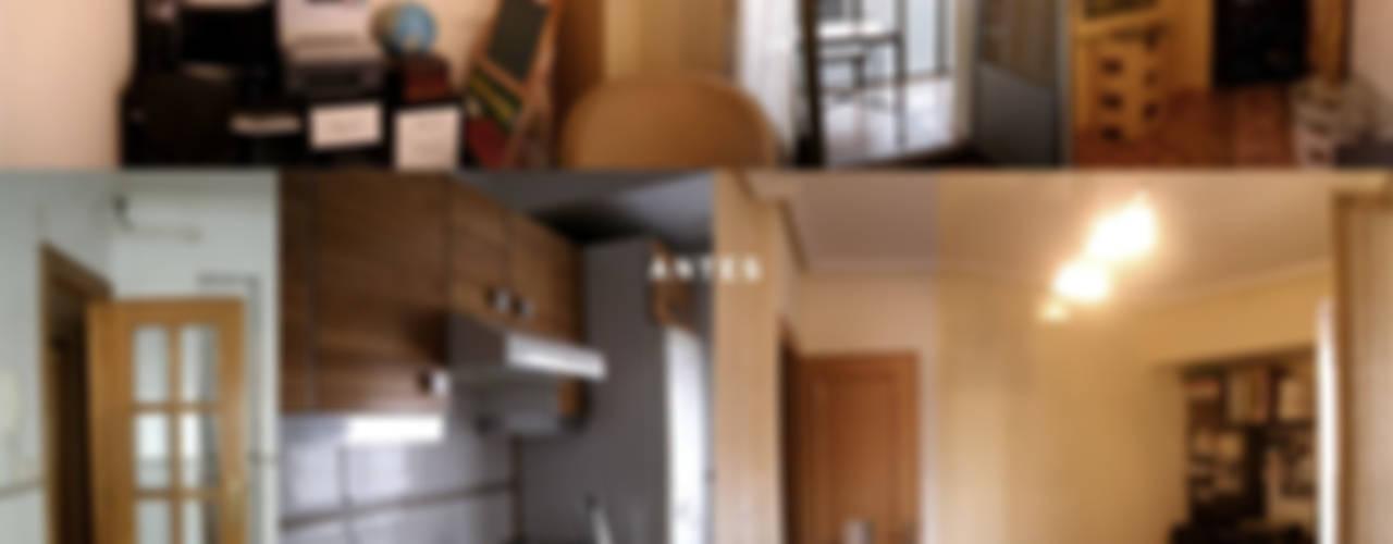 Salón-Cocina Salones de estilo moderno de interior03 Moderno