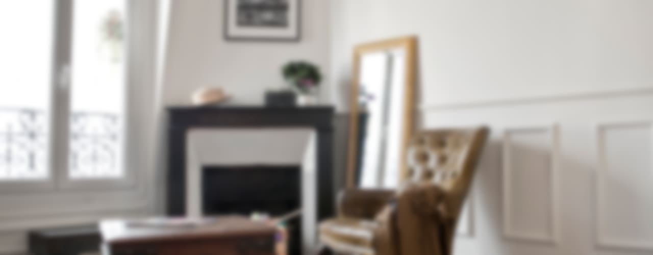 Projekty,  Salon zaprojektowane przez Cocottes Studio