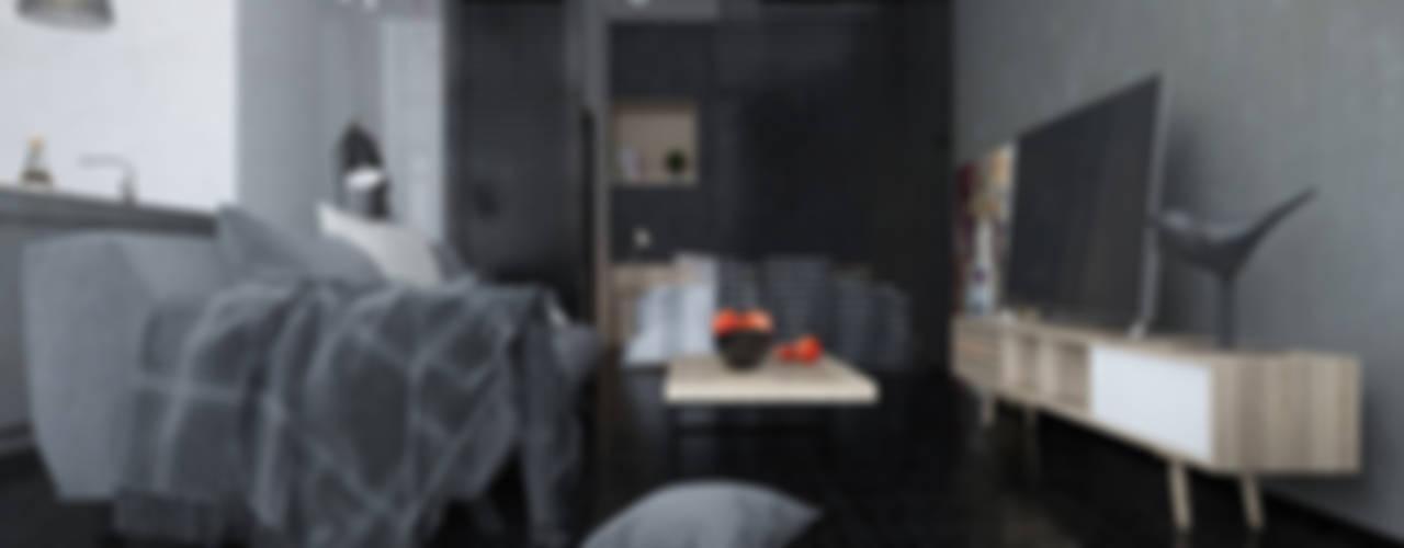 Уютный бетон для студента: Гостиная в . Автор – Tatiana Shishkina