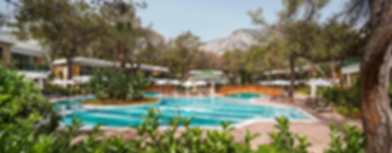 Nota Tasarım Peyzaj Mimarlığı Ofisi – Nirvana Lagoon Villas Suites & Spa Hard&Softscape Project:  tarz Bahçe