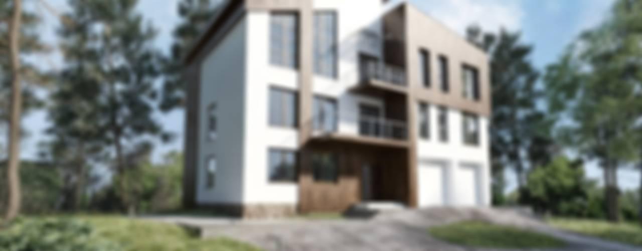 Коттедж в современном стиле: Дома в . Автор – Студия архитектуры и дизайна ДИАЛ
