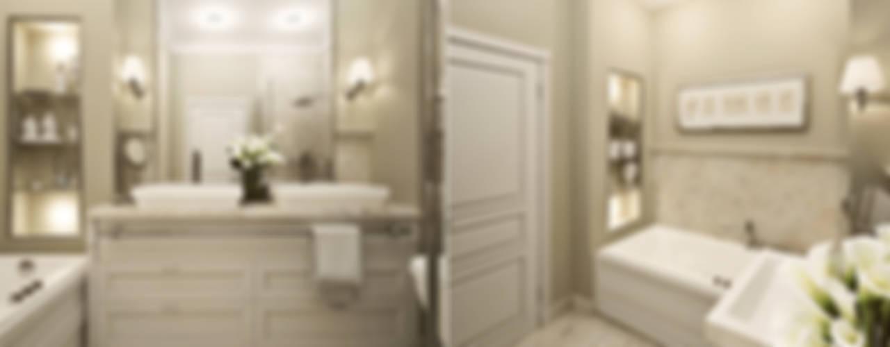 """Частный дом, коттеджный поселок """"Стольный"""": Ванные комнаты в . Автор – BEINDESIGN"""