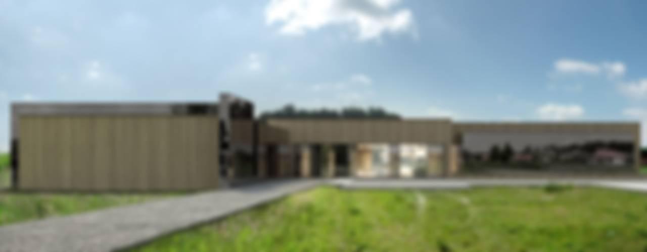 Dom w Dobroniu Nowoczesne domy od REFORM Architekt Marcin Tomaszewski Nowoczesny