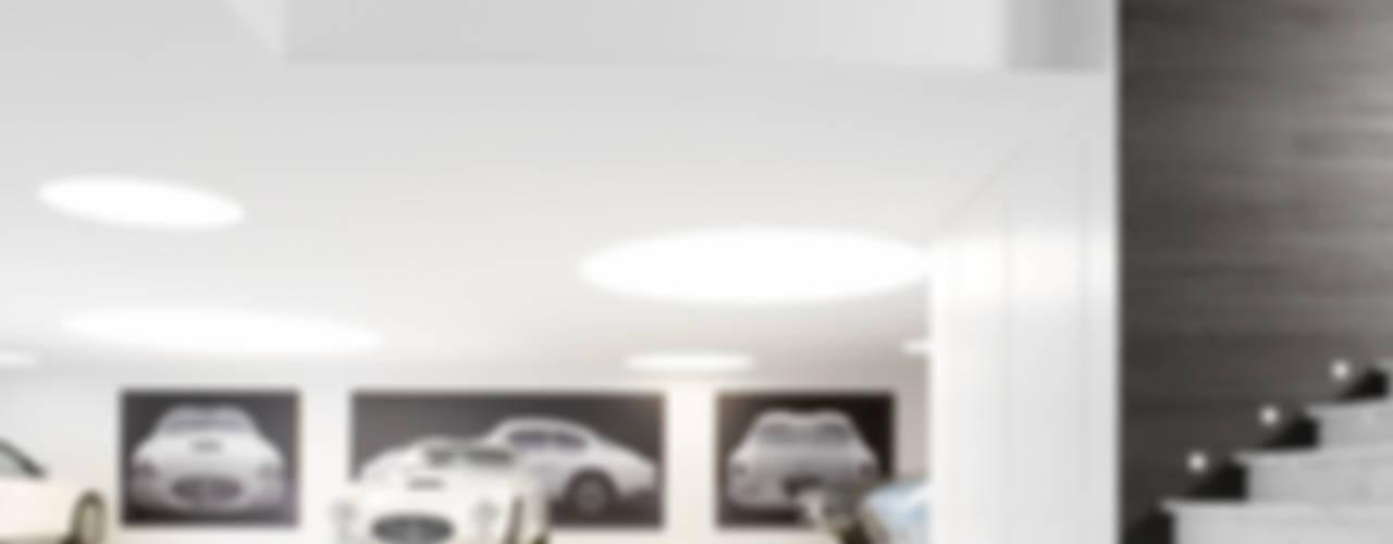 Modern Garage and Shed by ligne V Modern