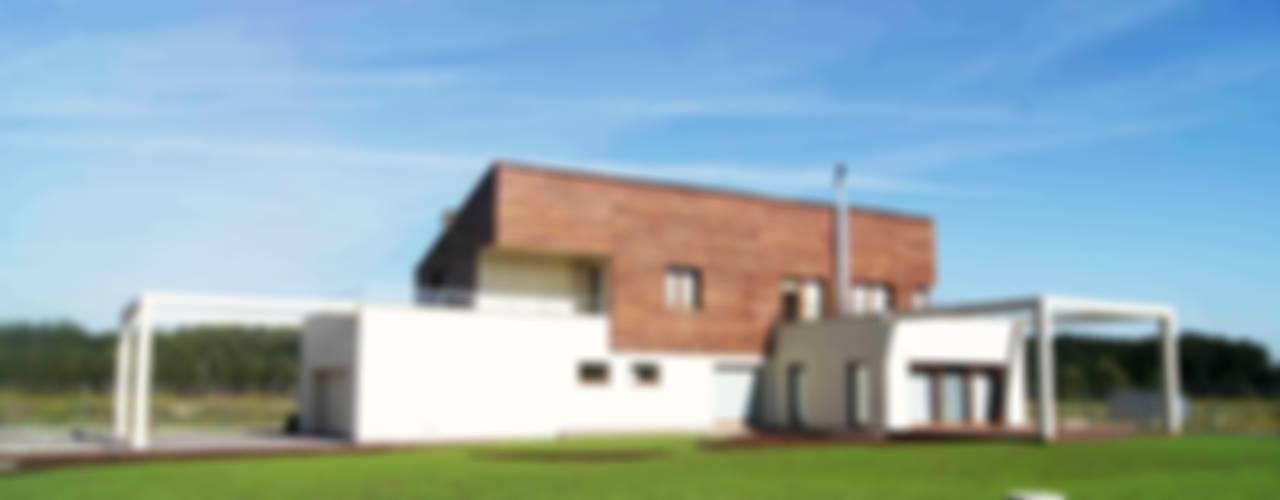 Dom Jednorodzinny PW bryła: styl , w kategorii Domy zaprojektowany przez Innebo,Nowoczesny