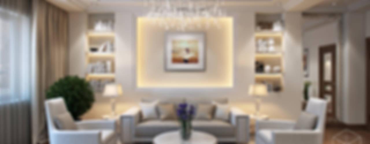 """ЖК """"Томирис"""" Гостиная в стиле минимализм от студия визуализации и дизайна интерьера '3dm2' Минимализм"""