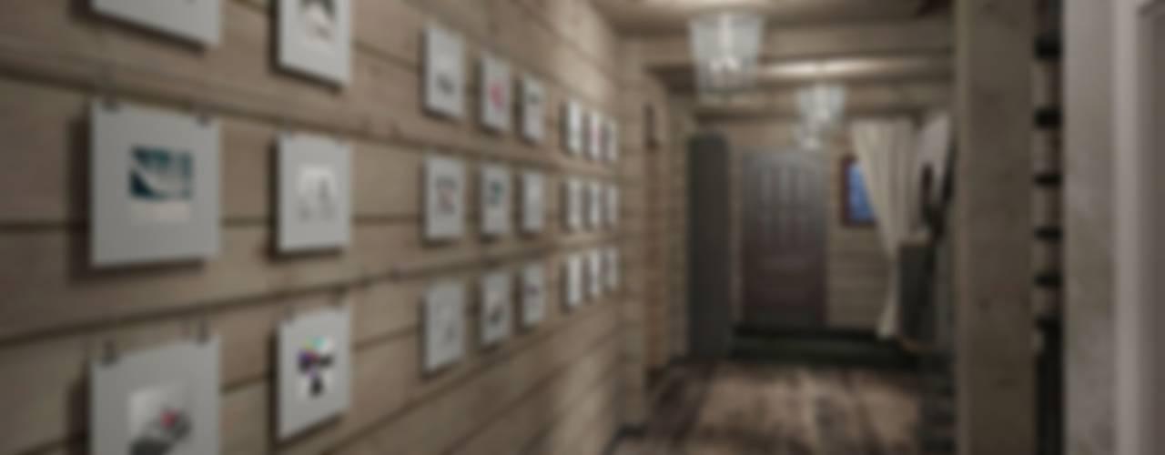 Дизайн интерьера дома в стиле шале Коридор, прихожая и лестница в стиле кантри от GM-interior Кантри