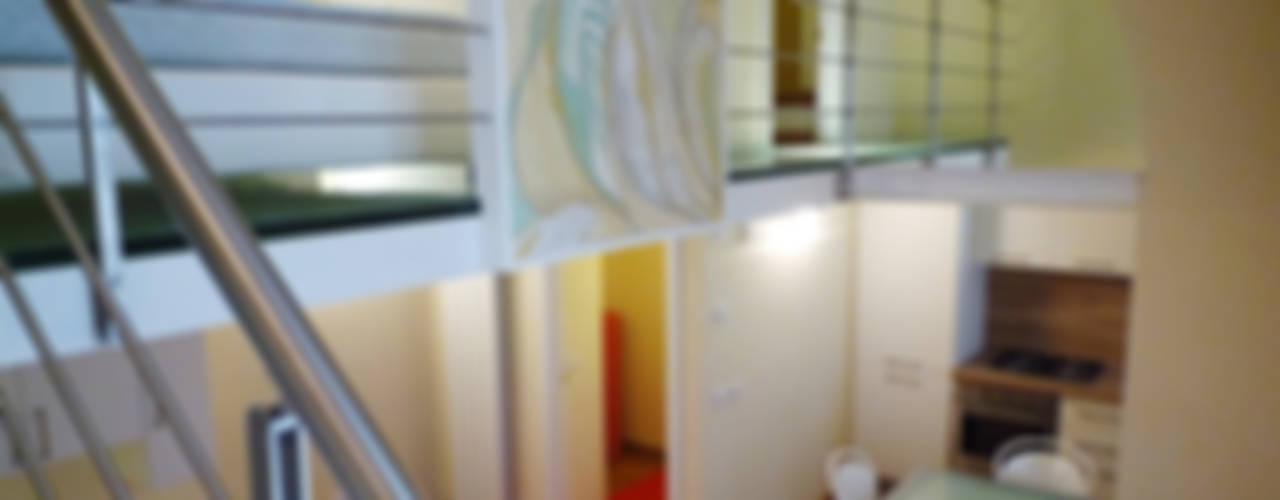 4 Loft in Porta Romana - Milano Soggiorno moderno di A3 Studio Associato di Architettura e Ingegneria di Arch. Ing. Marco Bramati e Arch. Marco Paolo Galbiati Moderno