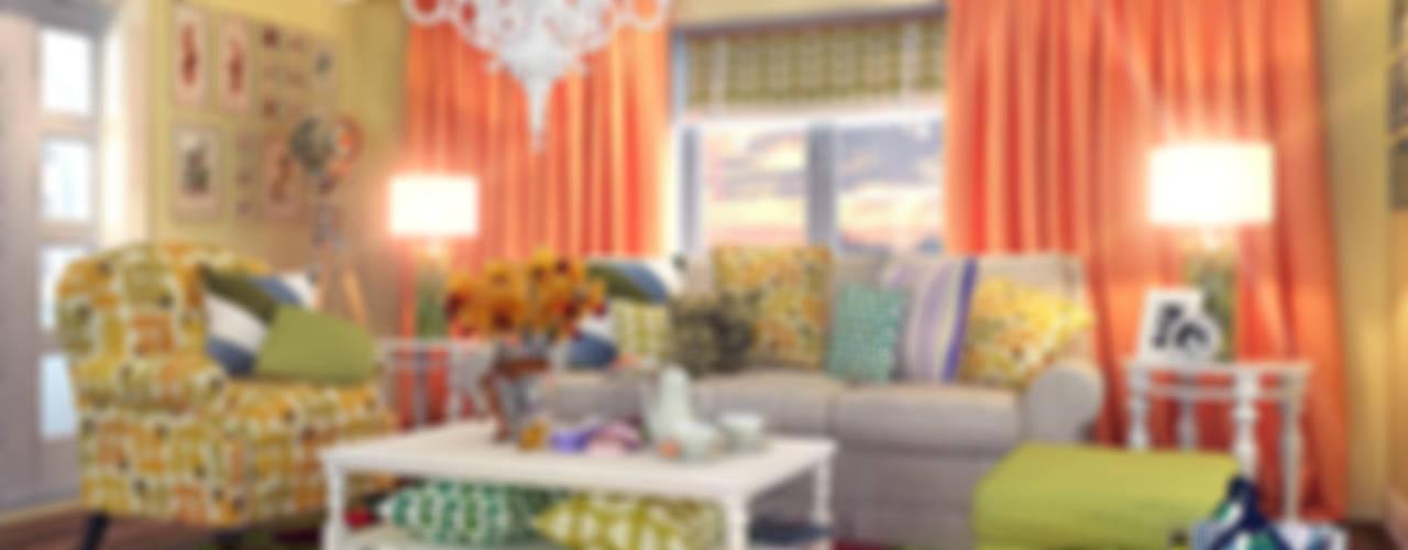 living room 2 Гостиная в стиле кантри от Your royal design Кантри