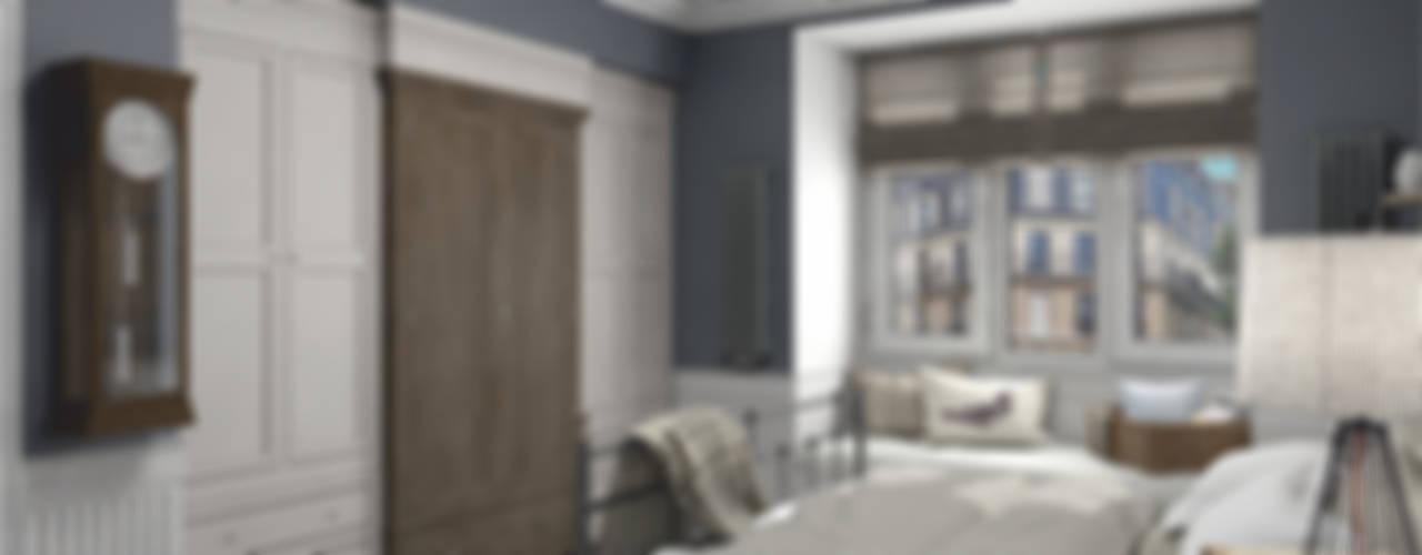 Camera da letto eclettica di Aleksandra Kostyuchkova Eclettico