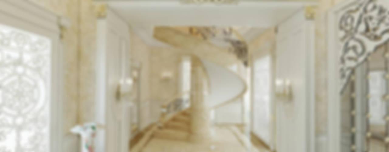 Nuevo Tasarım – Klasik villa projesi:  tarz Koridor ve Hol,
