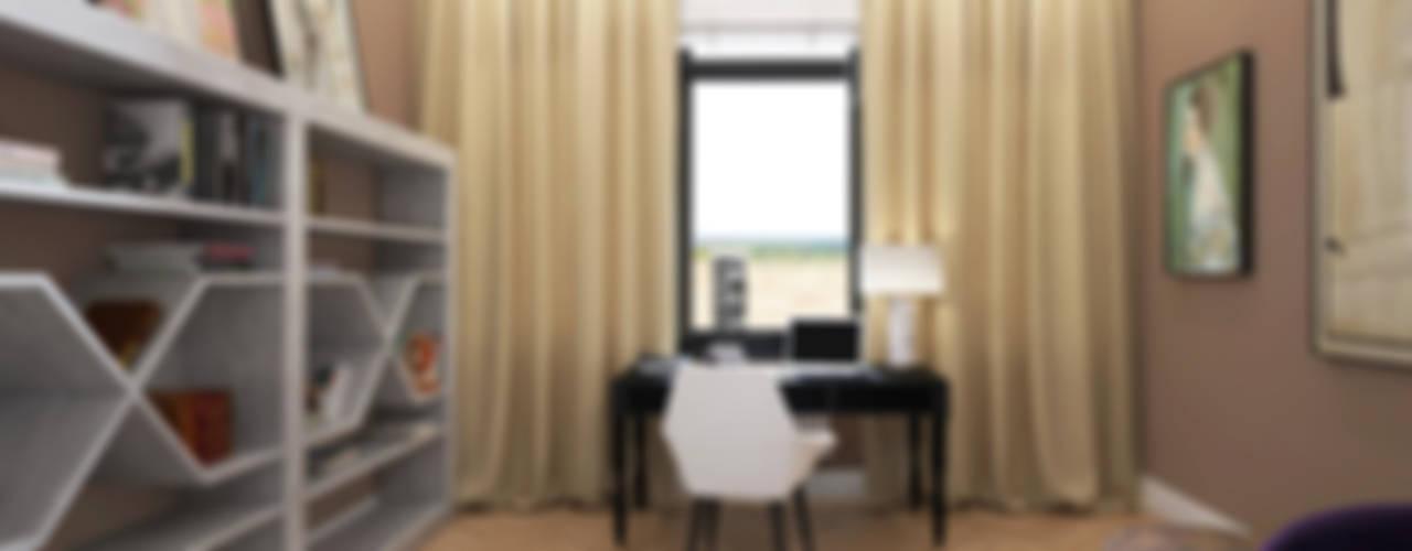 Oficinas de estilo ecléctico de ELENA BELORYBKINA Ecléctico