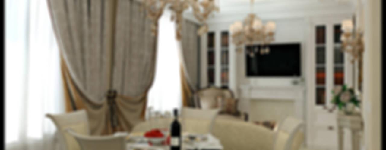 Классика для молодой семьи: Гостиная в . Автор – Defacto studio, Классический