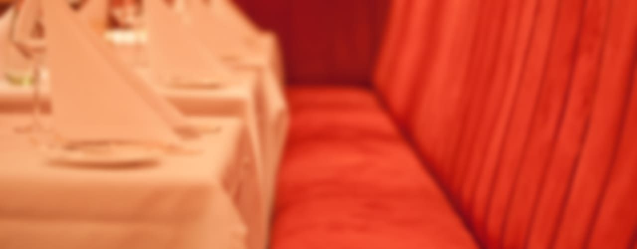 ergonomische Sitzbank im Brasserie-Look:  Gastronomie von Dreiklang® Hotelkonzepte mit Charakter