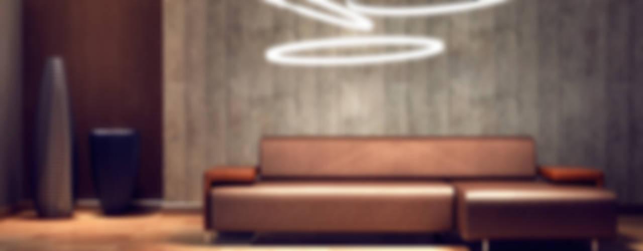 Lichtmanufaktur leuchtstoff*, Lichtdesigner Stefan Restemeier, MA Arch ห้องนั่งเล่นไฟห้องนั่งเล่น