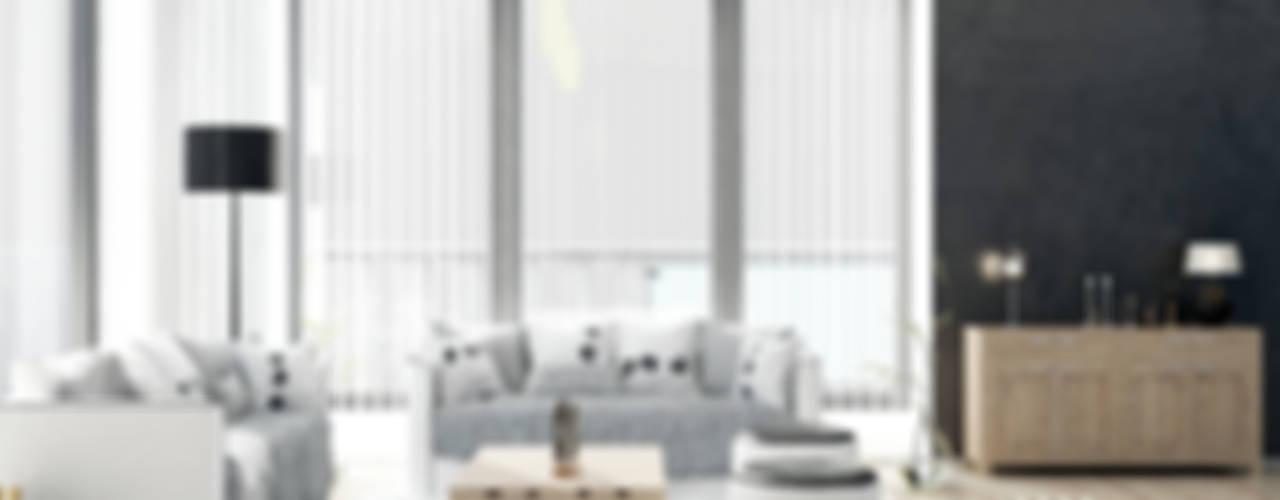Cortinas verticales Kaaten Salones de estilo escandinavo de Kaaten Escandinavo