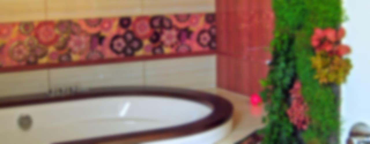 Фитостена в ванной комнате:  в . Автор – RaStenia