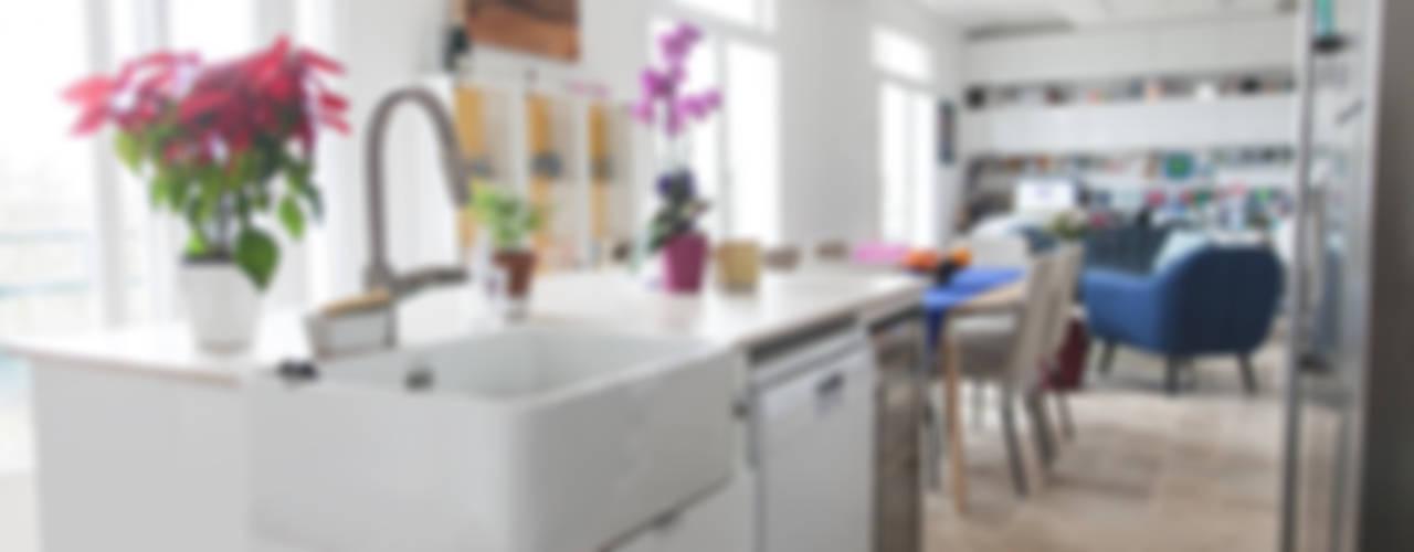 Appartement 107m² Cuisine moderne par Lise Compain Moderne