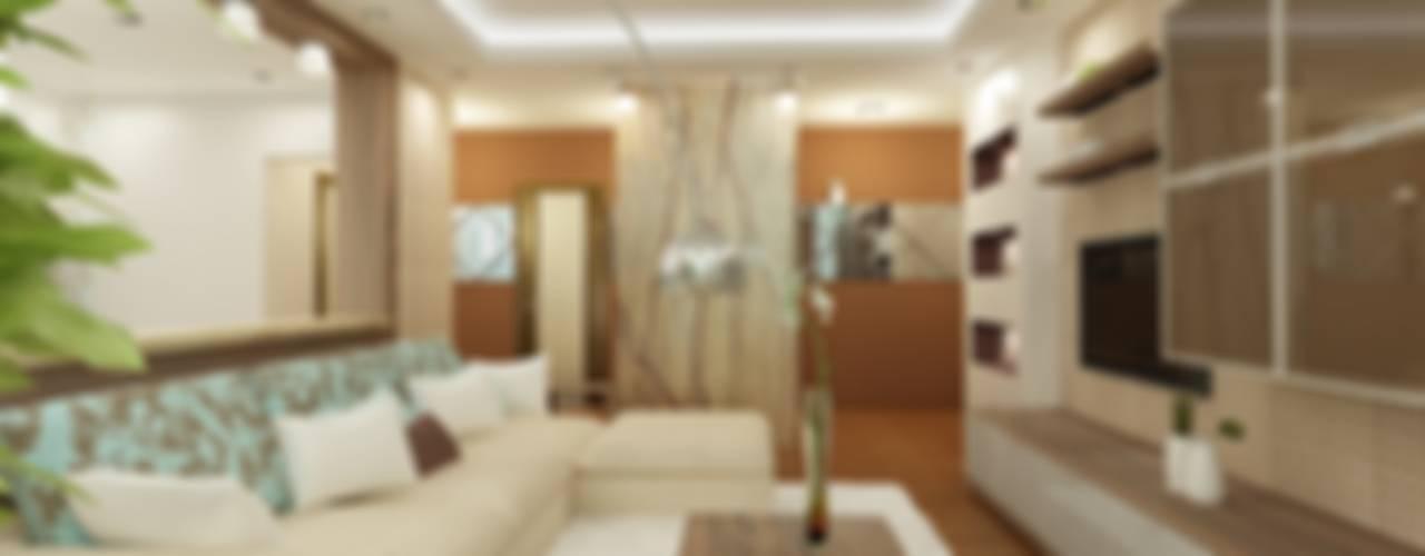 Квартира на Четаева: Гостиная в . Автор – Евгения Габитова