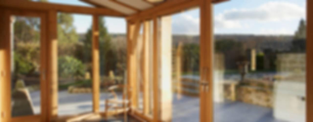 Sustainable Barn Conversion Jardin d'hiver rural par Hart Design and Construction Rural