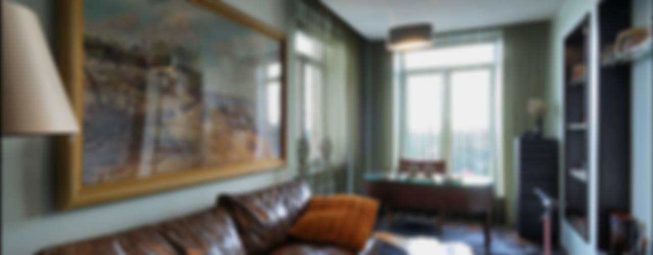 Квартира Мити Фомина Гостиная в стиле модерн от Студия дизайна интерьера Лелы Кавтарадзе Модерн