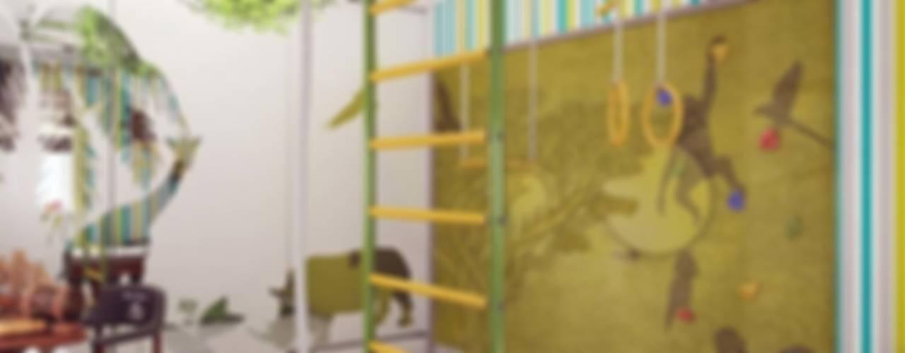 Бирюзовое очарование: Детские комнаты в . Автор – Студия дизайна интерьера 'Золотое сечение', Кантри
