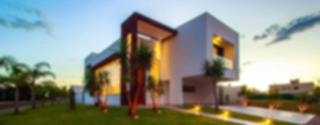 Residência Unifamiliar Condomínio Alphaville Londrina 2 Casas modernas: Ideas, imágenes y decoración de Tony Santos Arquitetura Moderno