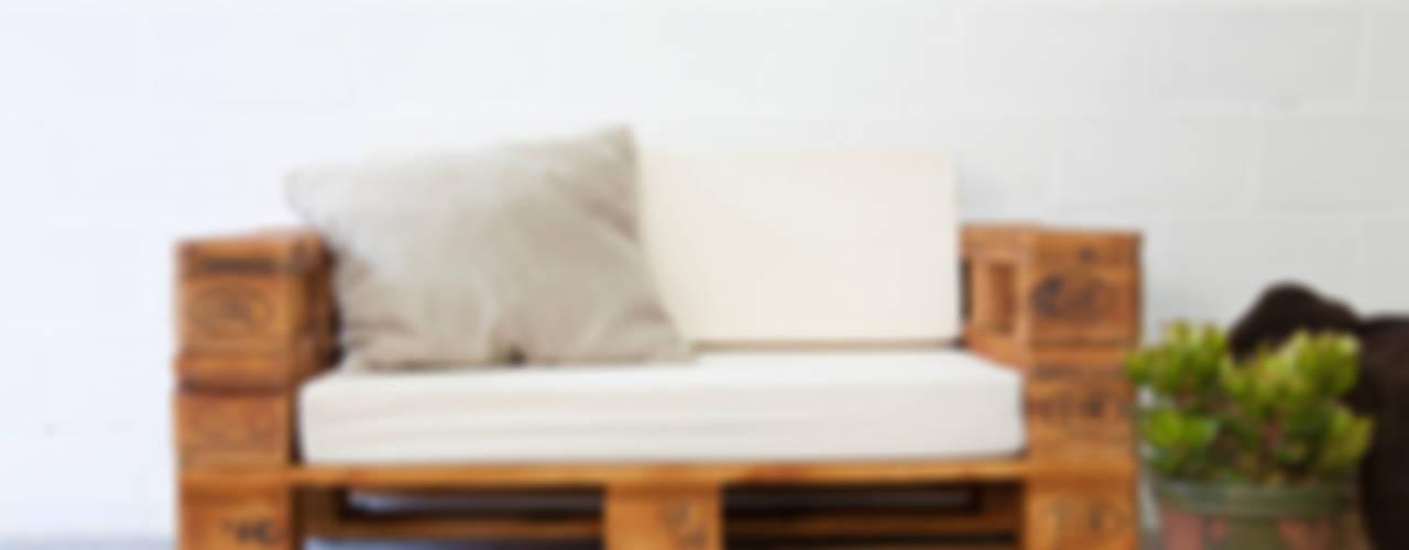 ALMANZOR sofá palets. 120x80cm de ECOdECO Mobiliario Rústico