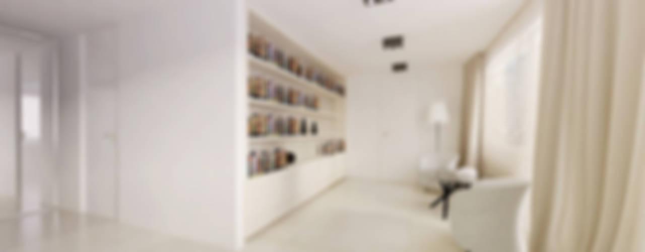 Dom w Żukowie : styl , w kategorii Korytarz, przedpokój zaprojektowany przez Ajot pracownia projektowa,Minimalistyczny