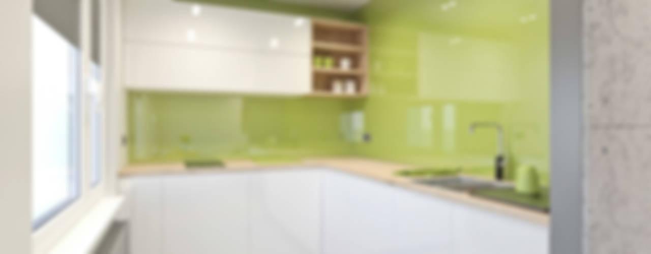 mieszkanie - Zakopane, Słoneczna - wizualizacja: styl , w kategorii Kuchnia zaprojektowany przez MIRAI STUDIO,