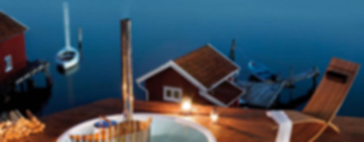 Skargards Terrass - Der Hot Tub für den Einbau von Skargards Hot Tubs Deutschland Skandinavisch