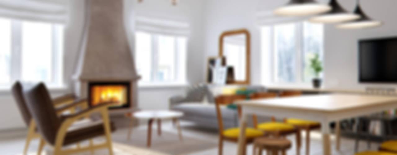 Scandinavian style living room by INT2architecture Scandinavian