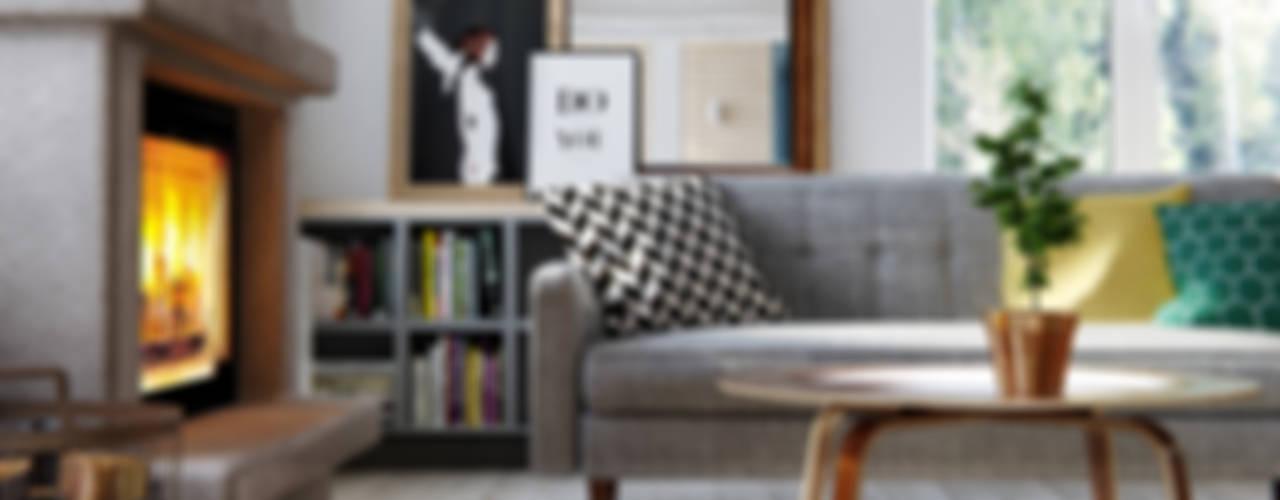 Salas de estar escandinavas por INT2architecture Escandinavo