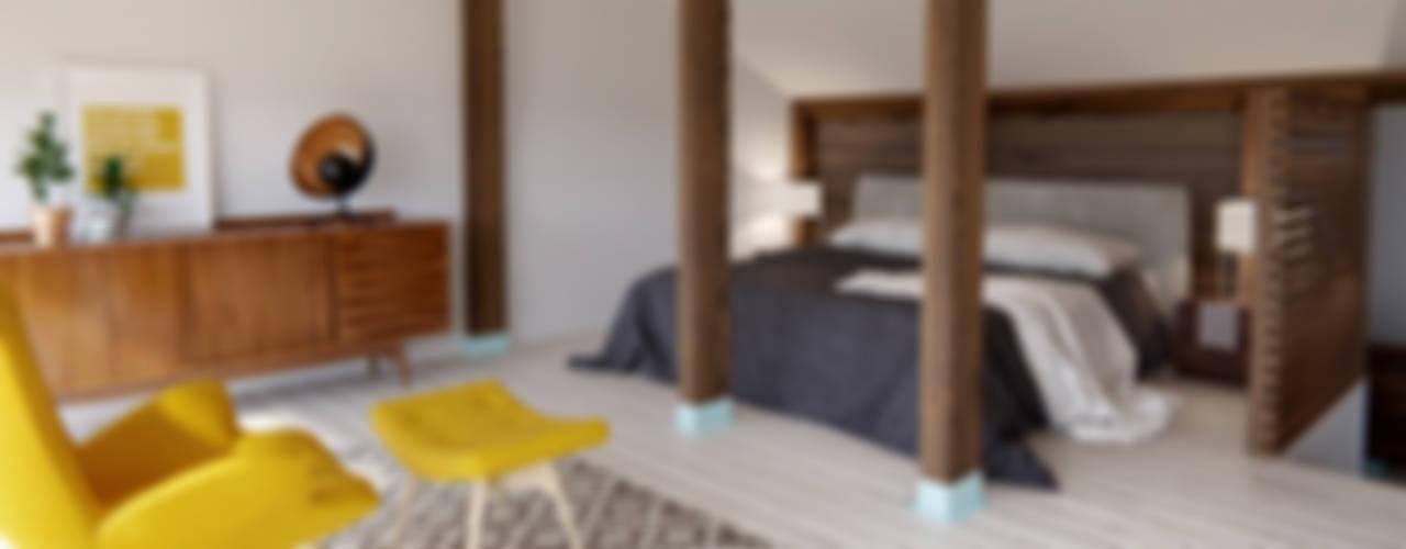 INT2architectureが手掛けた小さな寝室