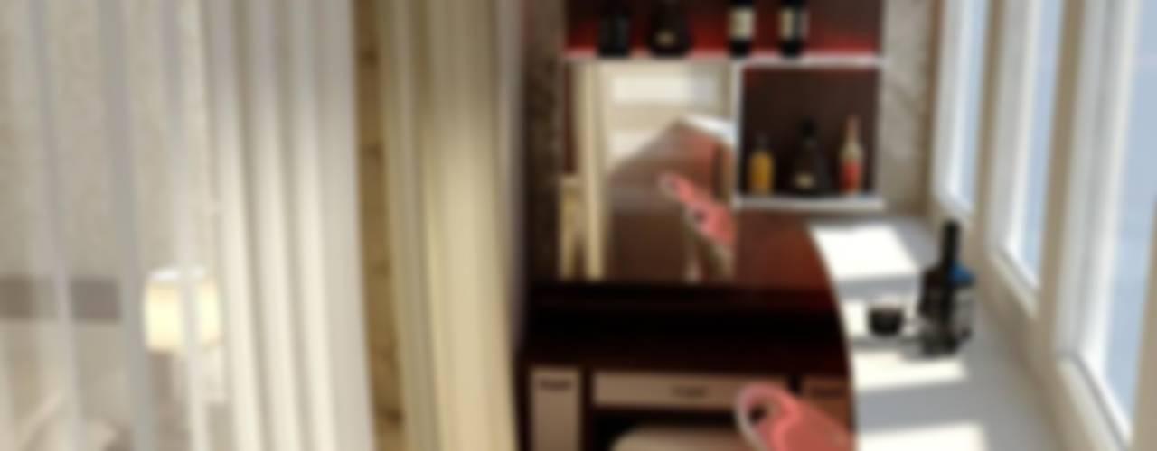 미니멀리스트 발코니, 베란다 & 테라스 by Цунёв_Дизайн. Студия интерьерных решений. 미니멀
