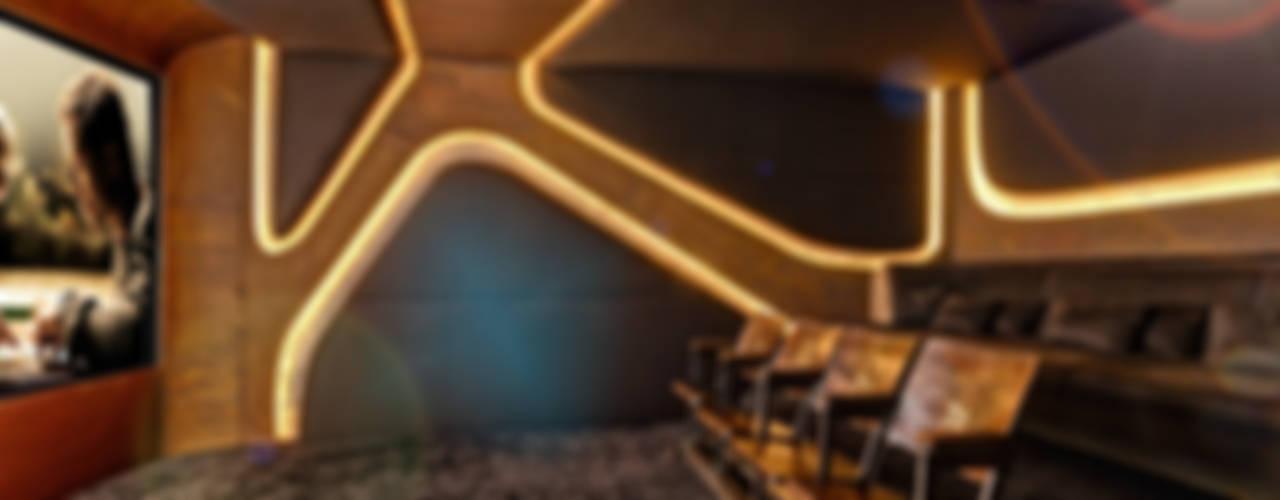 8SEC. - SHOWROOM HOME CINEMA Minimalistischer Multimedia-Raum von Barefoot Design Minimalistisch