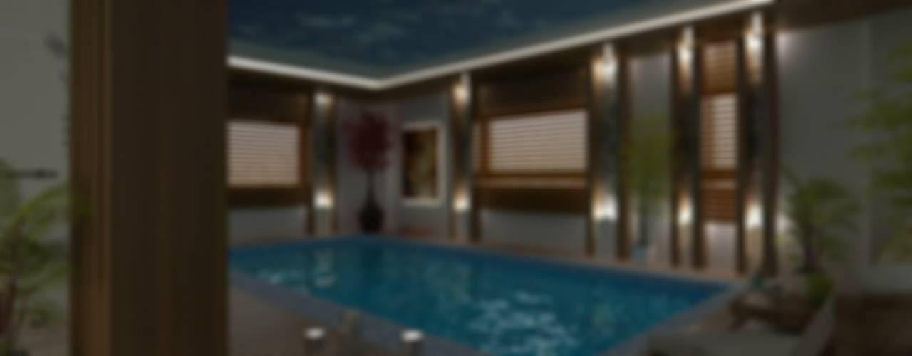 VİLLA N'MODA (DENİZLİ) Modern Havuz CANSEL BOZKURT interior architect Modern
