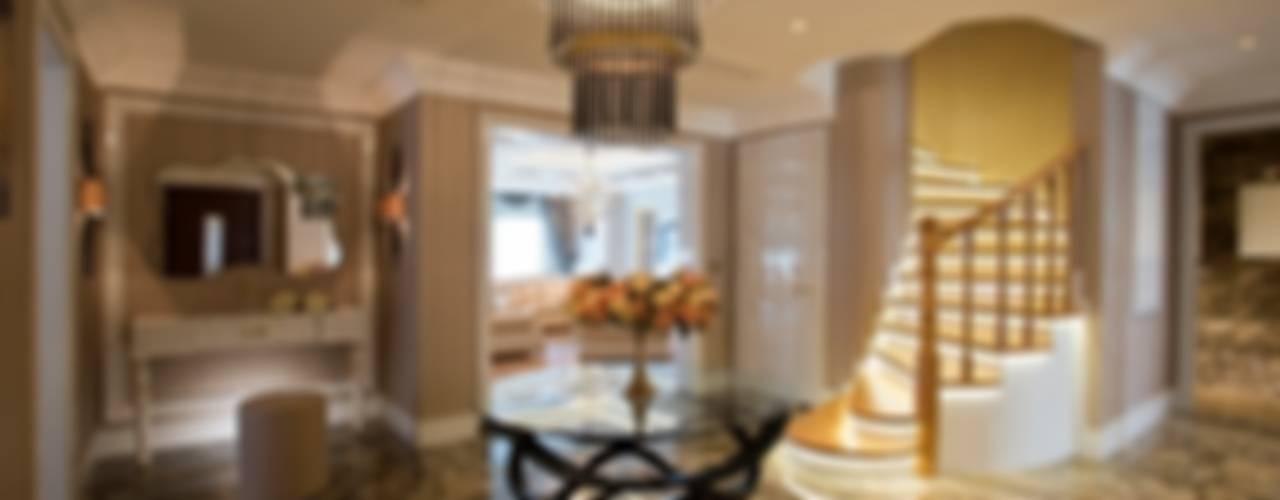 Eclectic corridor, hallway & stairs by BABA MİMARLIK MÜHENDİSLİK Eclectic