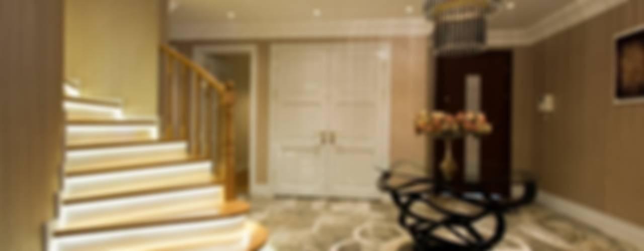 Yeşil Vadi Erguvan Evi, İstanbul. Eklektik Koridor, Hol & Merdivenler BABA MİMARLIK MÜHENDİSLİK Eklektik