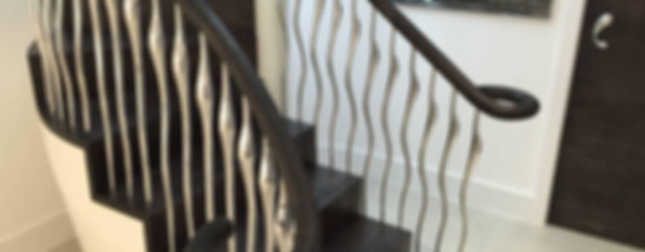 Pasillos y recibidores de estilo  por Zigzag Design Studio (Sculptural Structures)