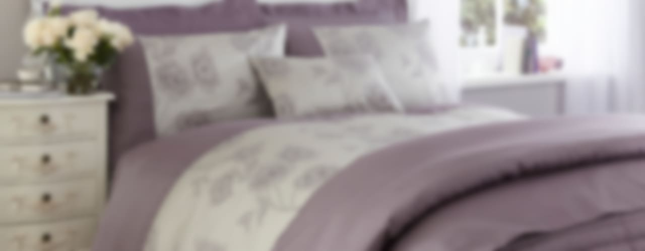 "Charlotte Thomas ""Antonia"" Jacquard Collection in Light Purple We Love Linen DormitoriosTextiles"