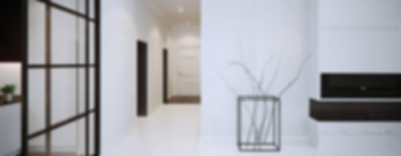 Mono Apartment: styl , w kategorii Salon zaprojektowany przez OFD architects,Minimalistyczny